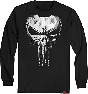 Camiseta Justiceiro The Punisher Manga Longa Algodão