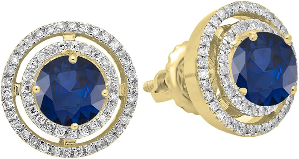 Dazzlingrock Manufacturer direct delivery Collection 10K Each Low price 5 Lab Gemstone Round Created MM