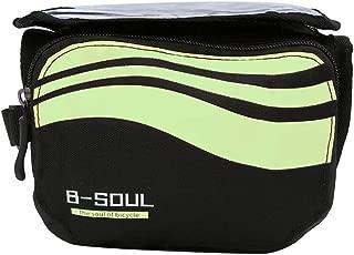 bulingbulingseason 5.7 Inch Bike Phone Touchscreen Bag Bicycle Front Handlebar Mounted Storage Saddle Pouch Waterproof Pannier Bag