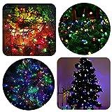 Luces de Navidad para la decoración de fiestas,bodas,Iluminación de Navidad de Interior para Arbol de Navidad Cable verde (MULTICOLOR) (3M-60MICRO)