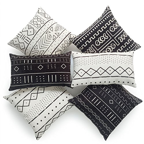 Why Choose Hofdeco Decorative Throw and Lumbar Pillow Cover HEAVY WEIGHT Cotton Linen African Mud Cl...