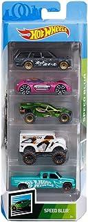 Hot Wheels 2019 Speed Blur 5-Pack (1971 Datsun 510 Wagon, Dodge XP-07, Team Corkscrew, Monster Dairy Delivery, Custom C3500)