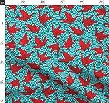 Kraniche, Origami, Japan, Japanisch Stoffe - Individuell
