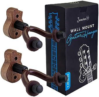 Guitar Ukulele Wall Mount Hanger - 2 Pack Hook Holder for Ukulele, Bass, Electric, Acoustic Guitar, Violin, Banjo and...