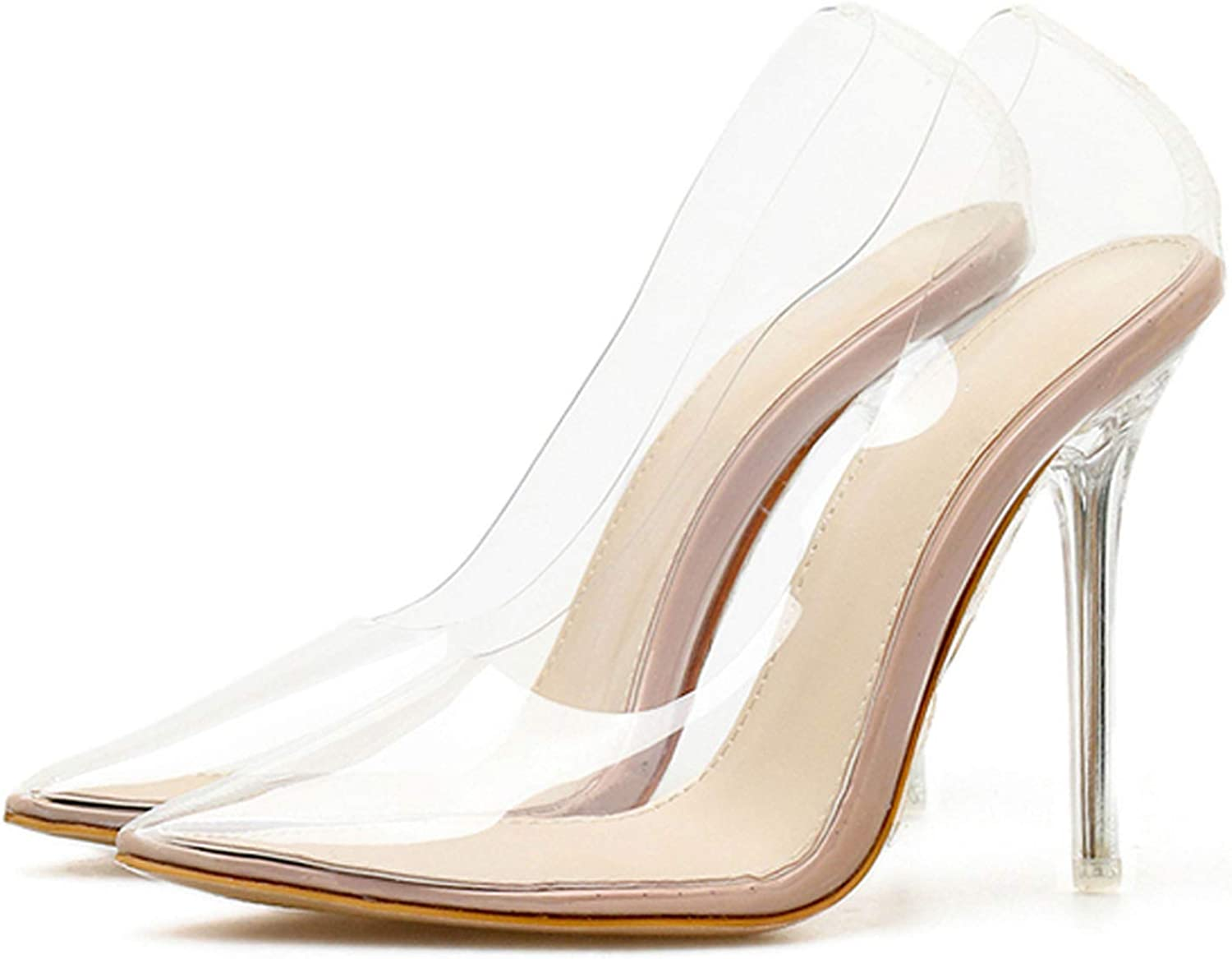 Sexy PVC Transparent Crystal Female High Heels shoes Pumps Party Wedding Pumps shoes