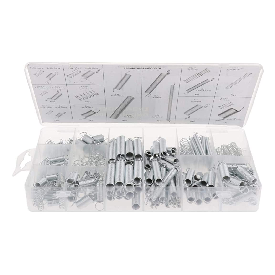 バター組家引張りばね 圧縮スプリング 伸縮スプリング 20種 DIY 耐久性 交換用 約200個入り