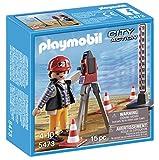 Playmobil Construcción - Construcción - Topógrafo, Juguete Educativo, Multicolor, 15 x 5 x 15cm, (5473)