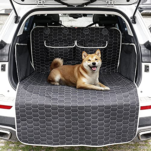 Oasser Funda de protección de Maletero para Mascotas (Perro) , Almohadilla de protección de Maletero Universal para automóviles, Impermeable y Duradera E9-A