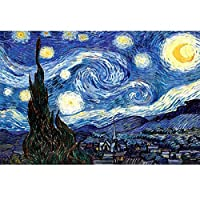 ジグソーパズル 3000ピース 星月夜 ゴッホ 名画 デコレーション パズル 大人向け 教育玩具 ストレス解消 115 x 82cm (星月夜)