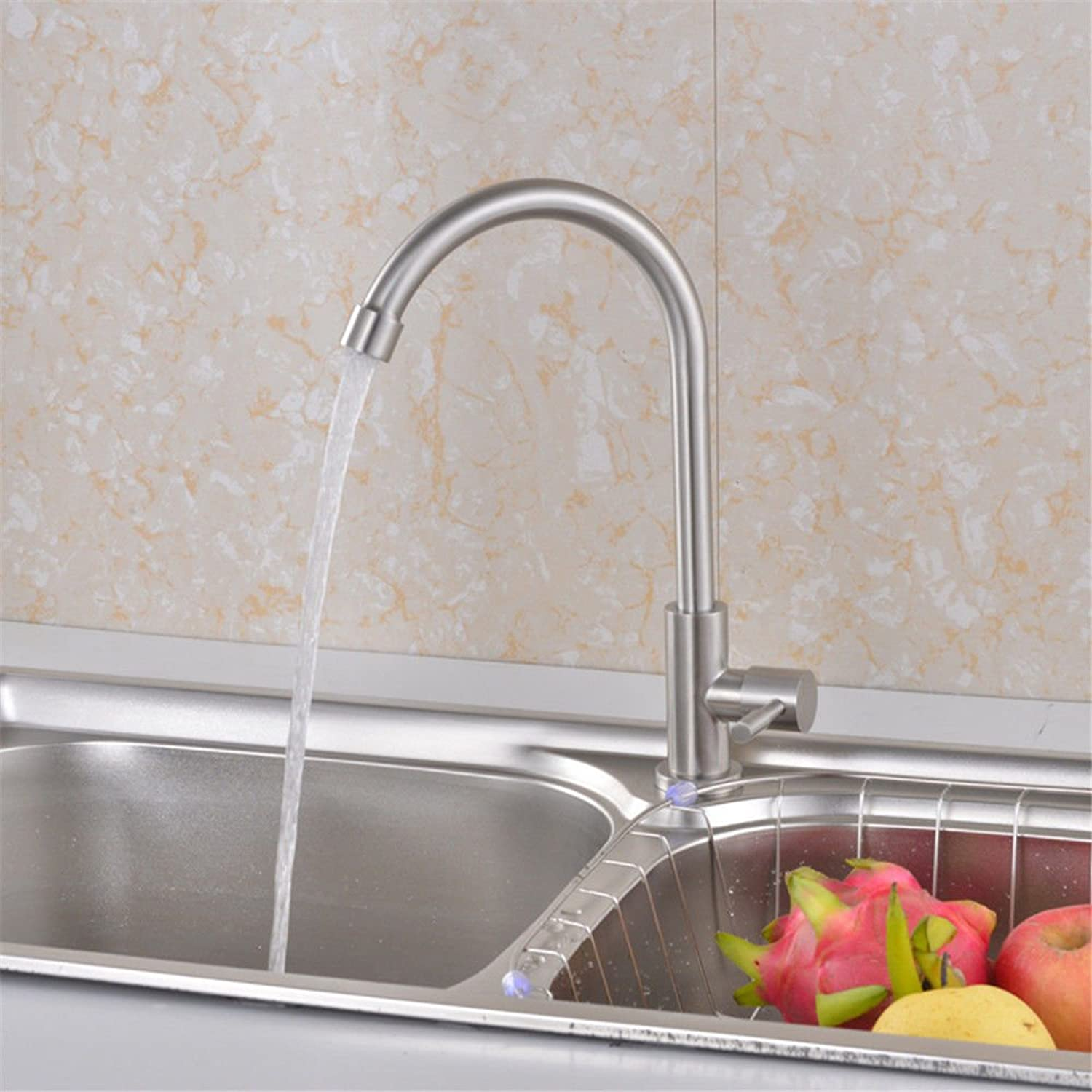 ETERNAL QUALITY Bathroom Sink Basin Tap Brass Mixer Tap Washroom Mixer Faucet Young porcelain 67301 single cold water to wash dishes kitchen faucet 304 Stainless Steel St