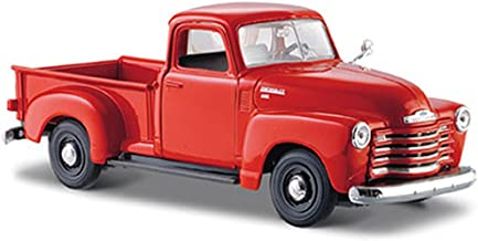 Maisto 1950 Chevy 3100 Pickup Truck, Orange 31952-1/24 Scale Diecast Model Toy Car, Multi