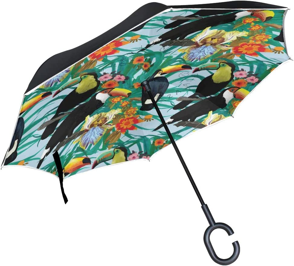 senya New mail order Double Layer Inverted Umbrella 2021 new C-Shaped Handle Touca with