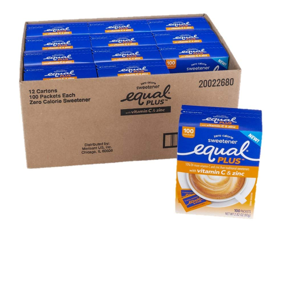 EQUAL PLUS with Max 50% OFF Vitamin C At the price of surprise and Zero Calorie Suga Zinc Sweetener