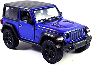 Jeep Wrangler Rubicon 4x4 Hard Top Off Road Exploration Diecast Model Toy Car Blue