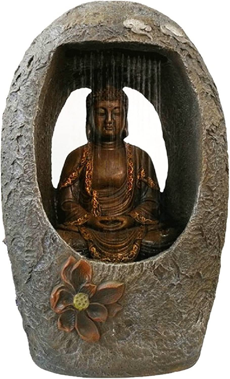 Yinasen Huge Size Buddhism Fengshui Lucky Water Running Fountain Figurines (Style 2) L 15.7 W 9.8 H 23.6in