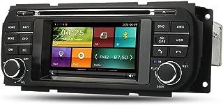 Maxtrons Car DVD Player GPS Navigation Stereo in Dash Radio for Jeep Grand Cherokee Liberty Wrangler Dodge Ram Dakota Durango Caravan Chrysler Voyager PT Crousie 300M Sebring Free Reverse Camera