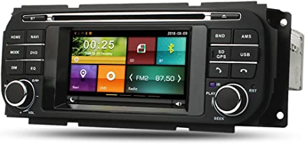 Maxtrons Car DVD Player GPS Navigation Stereo in Dash Radio for Jeep Grand Cherokee Liberty Wrangler