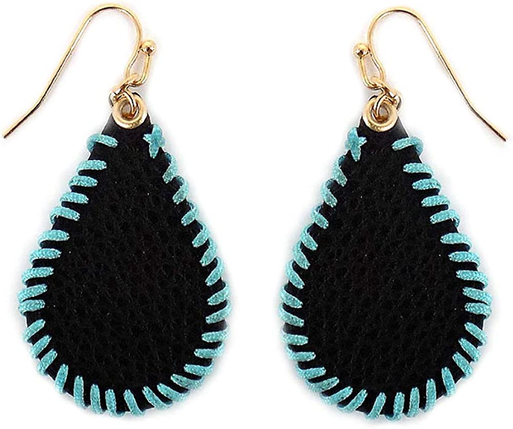 Amuck Leather Teardrop Earrings
