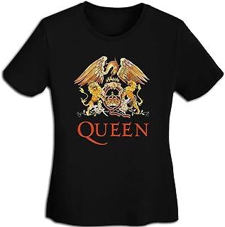 Queen クイーン Tシャツ レディース 春夏 プリント 創意デザイン ファション カジュアル おもしろ おしゃれ 快適 半袖 吸汗速乾 無地トップス ストリート 薄手 体型カバー 女性