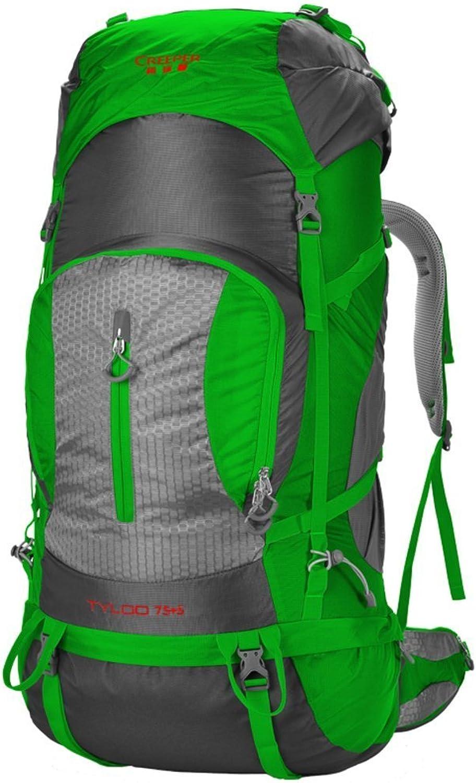 Backpack Beleuchtung Outdoor Klettern Tasche Reisetasche Schultern 80L Tactical Outdoor Camping Wandern Grün 80L