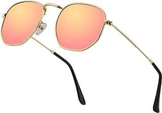 36ee0ed06f54 Hipster Hexagonal Polarized Sunglasses Men Women Geometric Square Small  Vintage Metal Frame Retro Shade Glasses