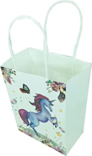 12 PCS Pack Unicorn Party Gifts Bags Paper Candy Treat Gift Bags for Kids Birthday, each of size 23 x 17 x 7 cm