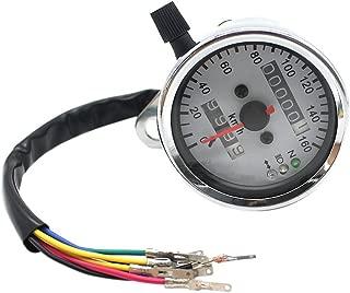 Pixnor 12000 rpm contagiri manometro a LED universale per motociclette contachilometri colore nero tachimetro