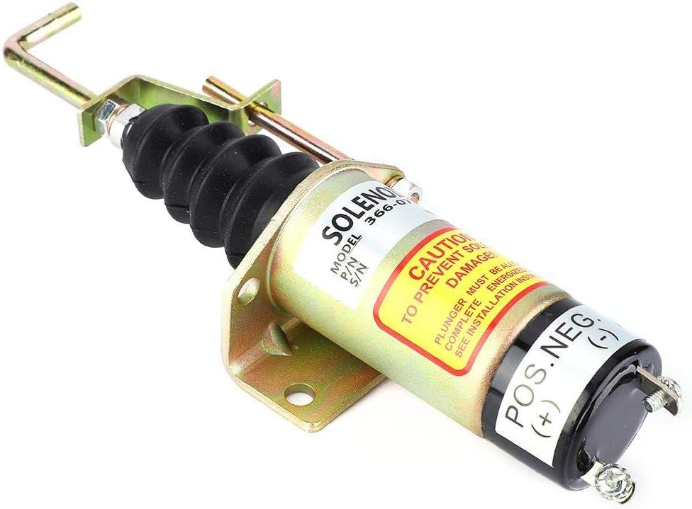 366-07197 Válvula magnética de alta confiabilidad Ajustable Gran ejecución SA-3405T Válvula solenoide de cierre de combustible para generador eléctrico de 12 V