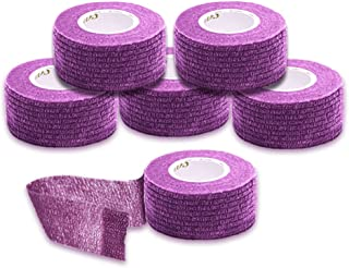 Syshion Self Adherent Cohesive Wrap Tape - 1 Inches X 6 Rolls - Non-Woven Elastic Sports Finger Safety Bandage