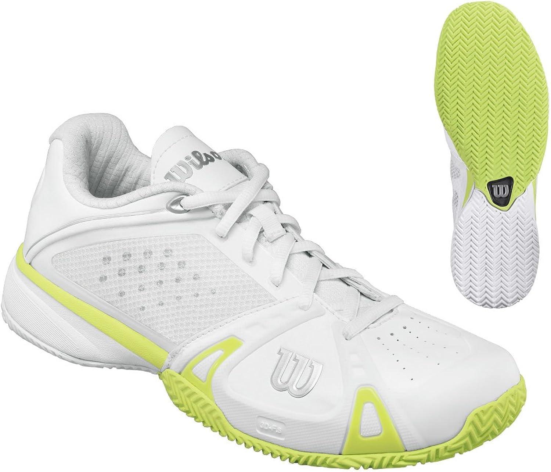 Wilson Women's Rush Pro CC, White Green-5.5 [Sports]