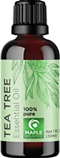 100% Tea Tree Oil Pure - Tea Tree Essential Oil for Skin Dry Scalp and Cuticle Oil for Nail Cleaner - 100% Pure Tea Tree O...