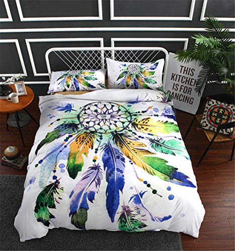 Goldrui Full Bedding Cover Set - Luxury Microfiber Comforter Quilt Cover - Best Organic Modern Style for Kids and Women(4 pcs, Flat Sheet+ Fitted+ 2 Pillowcase)