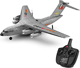 XK A130 RC Channel Remote Control Airplane, Y-20 Model Military Transport Aircraft 3CH RTF Glider RC Airplane, 360° flip Wingspan Plane Drone Flying Aircraft for Indoors/Outdoors Flight (Gray)