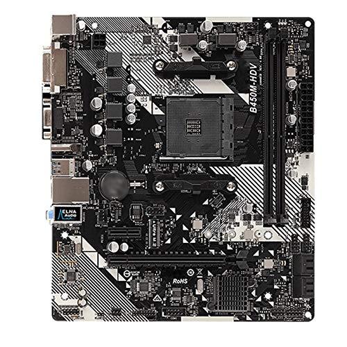 Diecast master Ajuste para Fit For Asrock Super Aleación B450M-HDV Motterboard B450 Socket AM4 DDR4 32G SATA3, 1 Ultra M.2 USB 3.1 VGA HDMI Micro-ATX Placa Base de computadora