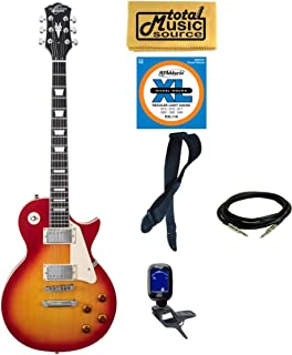 Oscar Schmidt OE20CS LP Style Electric Guitar Bundle - Cherry Sunburst