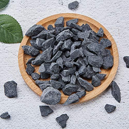 Maniny Naturale Nero Ghiaia ciottoli 5kg all'aperto pavimentazione Acquario Decorazioni per la casa Cortile in Pietra 10-20cm/5kg