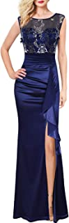 Womens Formal Ruched Ruffles Evening Prom Wedding Party...