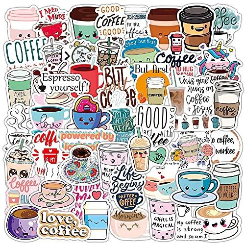 estéticas 10/50 unids Vintage Rooftop Coffee Coffee Stickers Portátil Guitarra Equipaje Frigorífico Impermeable Graffiti Pegatina Calcomanía Kid Classic Toys (Color : Random 10PCS)