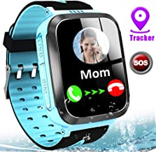 Kids Smart Watch Waterproof LBS Tracker Phone Watches for Boys Girls Age 4-12 with SOS Calling Camera Puzzle Games Alarm Clock LED Flashlight 1.44