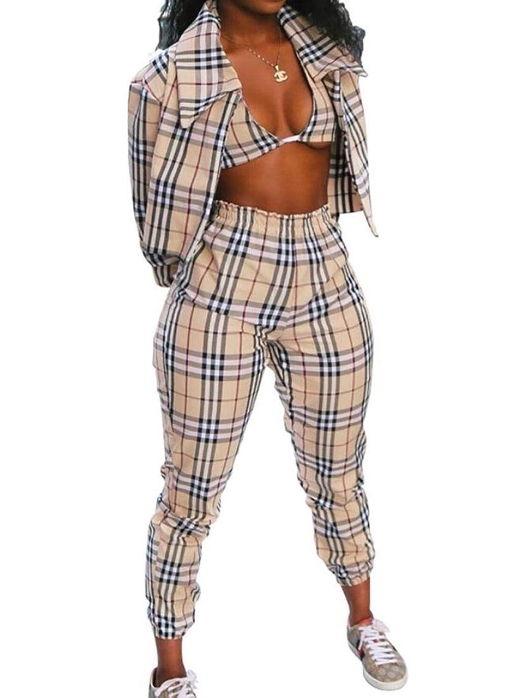 よりモットーぼかし女性セクシーbodyconブラとジャケットロングパンツの衣装は3ピースを設定