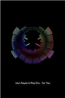 Liam Payne & Rita Ora (vijftig tinten vrij) - voor u - Sound Wave Vector Art Print - A4 formaat