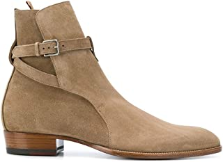 Luxury Fashion | Saint Laurent Men 498372BT3009870 Beige Suede Ankle Boots | Season Permanent