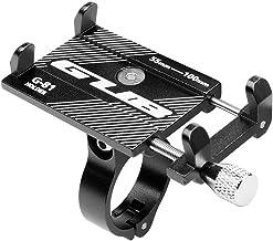 GUB G-81 Bicycle Phone Mount Stand 3.5-6.2inch Phone Metal MTB Bike Mobile Phone Handlebar Holder Mount (Black)