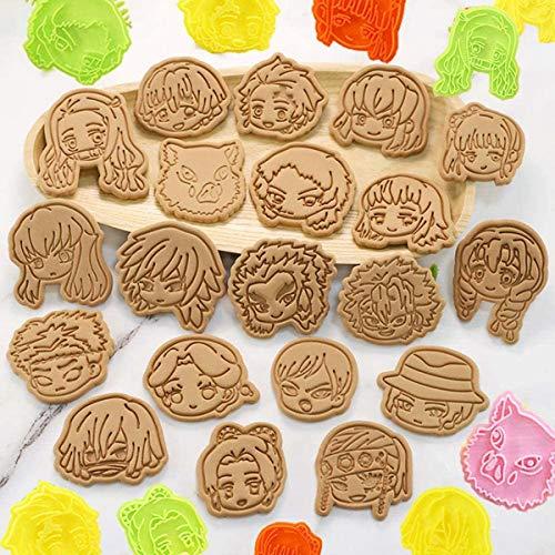 【2020最新版】鬼滅の刃 スタンプクッキー型 20個 鬼滅の刃クッキー型 竈門 炭治郎、竈門 禰豆子、我妻 善...