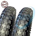 EMC12MCG - 2 neumáticos de goma para moto Mini Cross Minimoto Minicross 12 x 1/2 2.75