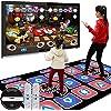 コントローラー ダブルダンスマット子供のためのマットのためのマット子供USB高精細な非スリップダンスステップマットテレビAVビデオゲームダンスマットマットミュージックゲームマットダブルワイヤレス3Dソマトセント