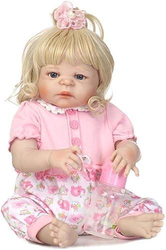 Babypuppen Soft Vinyl Silikon Neugeborenen Puppen 22 Zoll 57 cm Realistische mädchen Handgemachte Babys Spielzeug