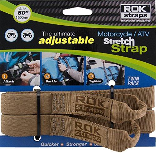 ROK STRAPS ROK-00065 Coyote Tan 18' - 60' Motorcycle/ATV Adjustable Stretch Strap