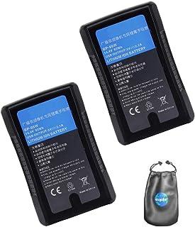 Amsahr - Batería para cámara y videocámara Sony Bp-95w, bp-150s, 2 Unidades, Incluye Bolsa de Accesorios para Lentes
