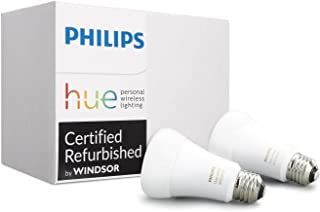 Philips 453092 Ambiance A19 2 Retail Hue White 60W Equivalent Dimmable LED Smart Light Bulb (Compatible with Alexa, Apple Homekit, and Google Assistant), 2-Pack (Renewed)